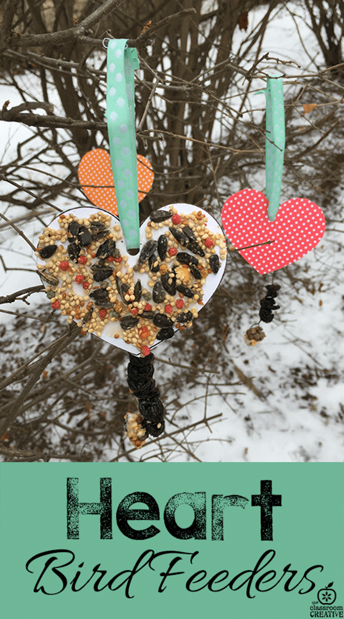 Free January Activities and Printable Resources - heart shaped bird feeders