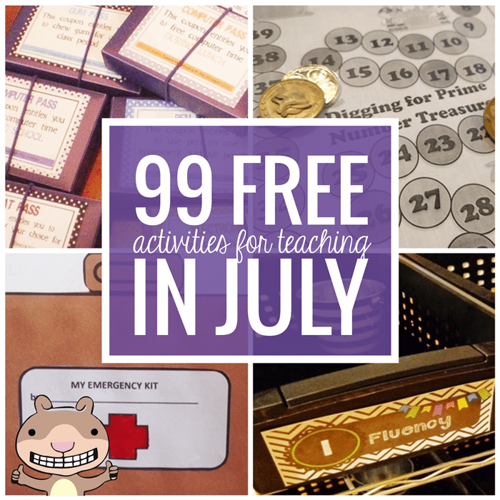Free July Activities and Printable Resources