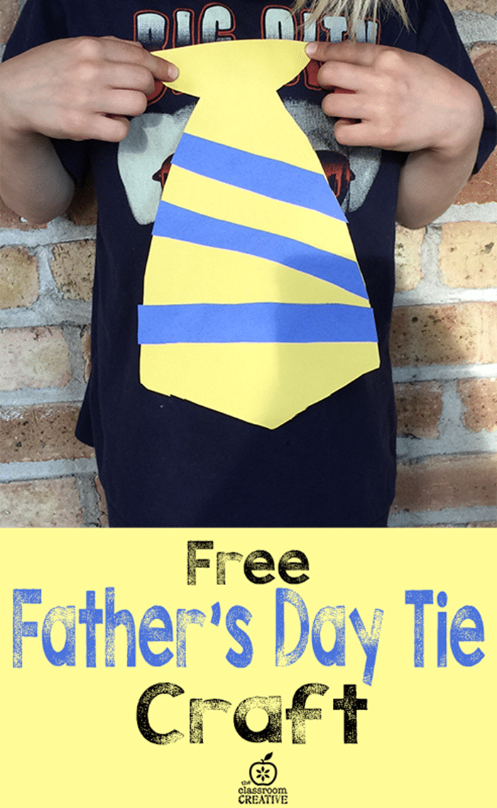 Free June Activities and Printable Resources - father's day tie craft