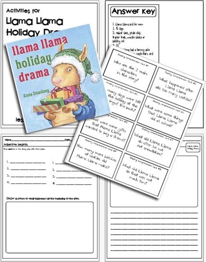 Free Llama Llama Holiday Drama Activities