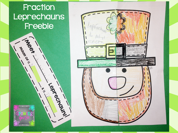 Free March Activities and Printable Resources - Fraction Leprechauns