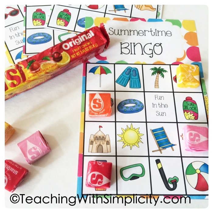 Free May Activities and Printable Resources - summer bingo