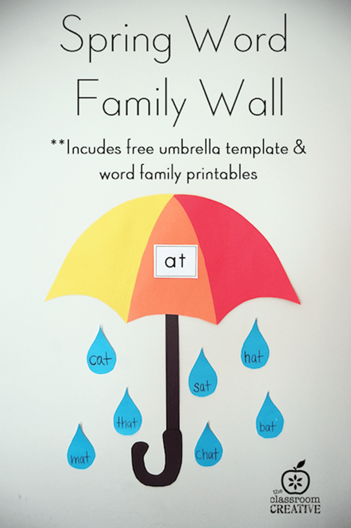 Free May Activities and Printable Resources - umbrella word families