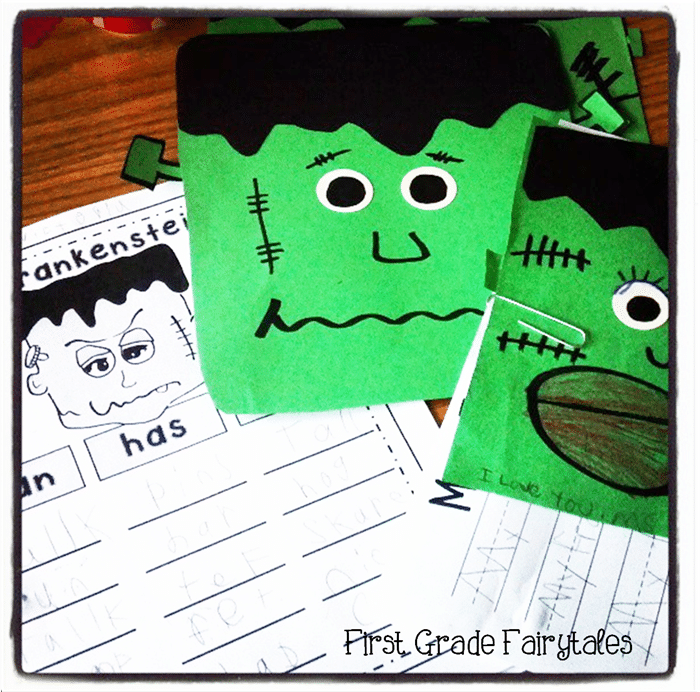 Free October Activities and Printable Resources - Frankenstein craftivity