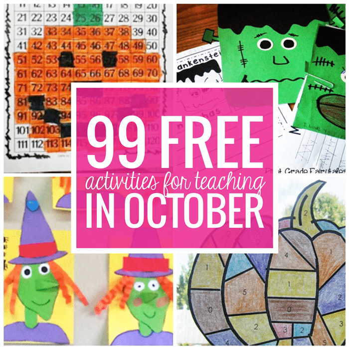 Free October Activities and Printable Resources - Teach Junkie