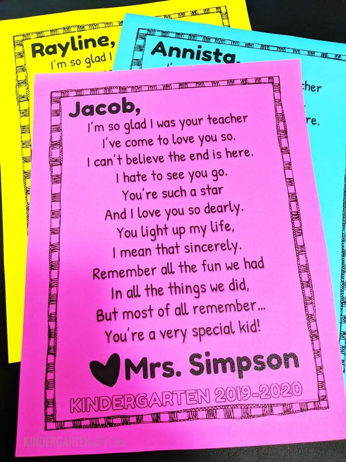 Letter From Teacher To Students from www.teachjunkie.com