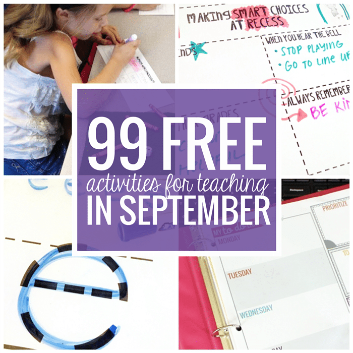 Free September Activities and Printable Resources