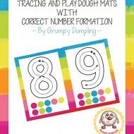 Playdough Number Mats 1-10 {Printable}