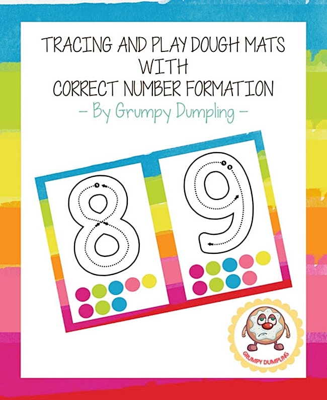Free Playdough Number Mats 1-10 {Printable} Teach Junkie