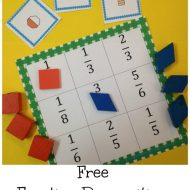 Recognizing Fractions Tic Tac Toe {Fun!}