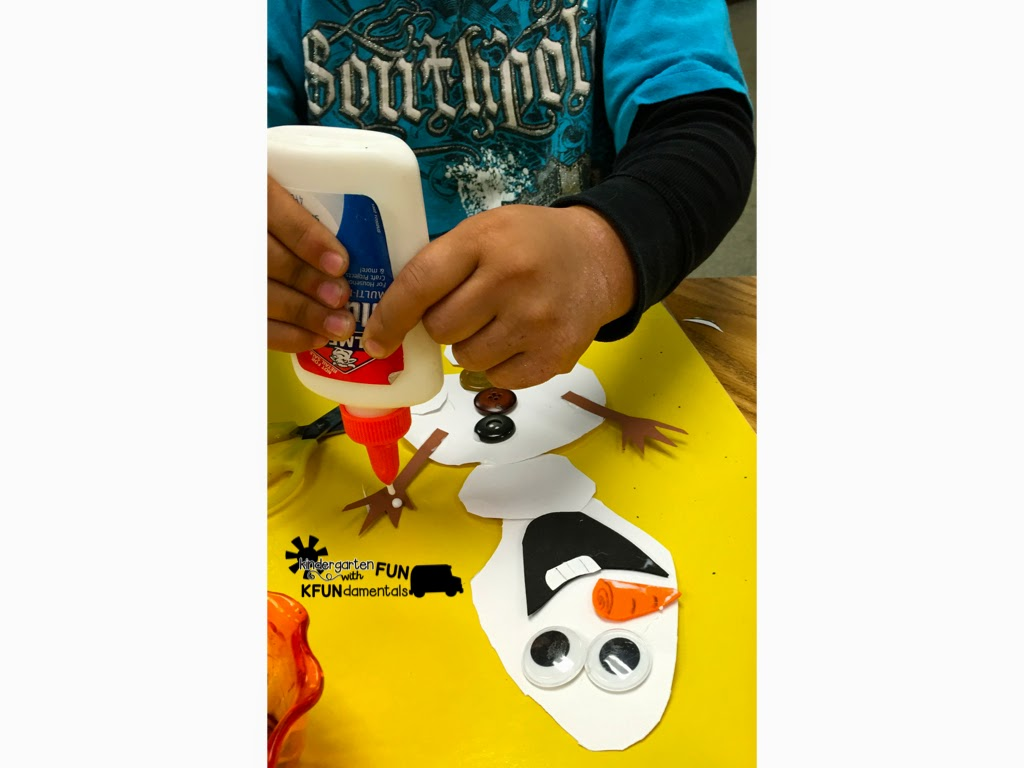 Frozen Snowman Olaf Craft Activity - Teach Junkie