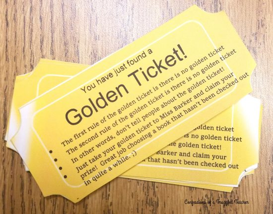 Golden Ticket for a Read-a-thon - what a fun idea!