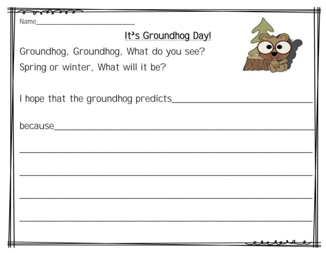 Groundhog Day - 14 Heads Up Ideas - Groundhog groundhog what do you see - Teach Junkie