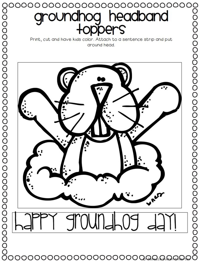 Groundhog headband topper - Groundhog Day Activity For Kindergarten