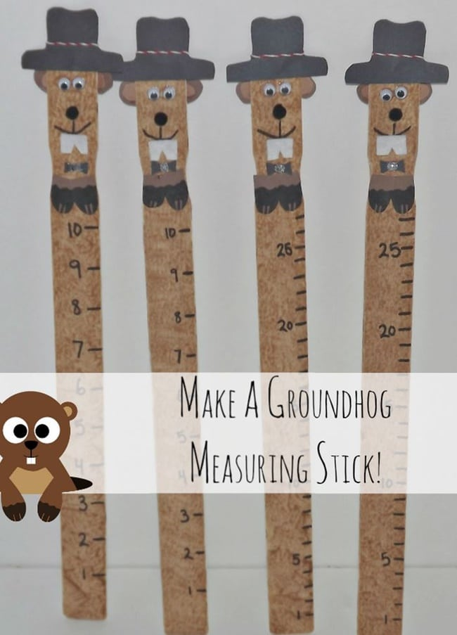 It's Groundhog Day! 16 Free Teacher Ideas - Groundhog measuring stick - Teach Junkie