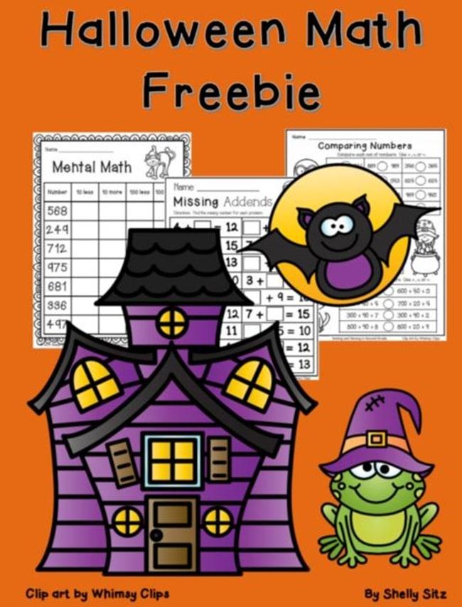 halloween worksheets for 2nd grade math teach junkie
