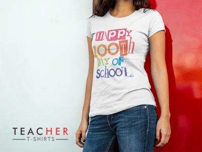 Happy 100th Day of School Teacher Shirt