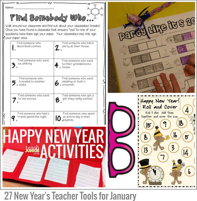 happy new year activities 27 new years teacher tools for january teach junkie