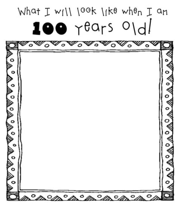 image relating to 100 Days Printable named 45 Excellent 100th Working day of University Components - Practice Junkie