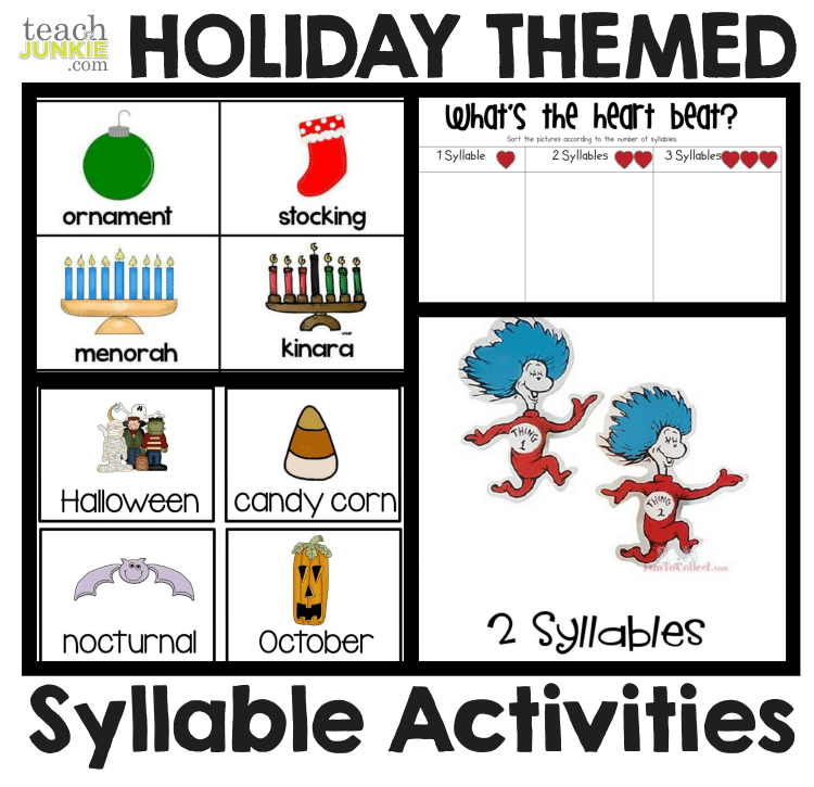photo relating to Syllable Games Printable referred to as Syllables - 8 Very simple toward Print Routines - Educate Junkie