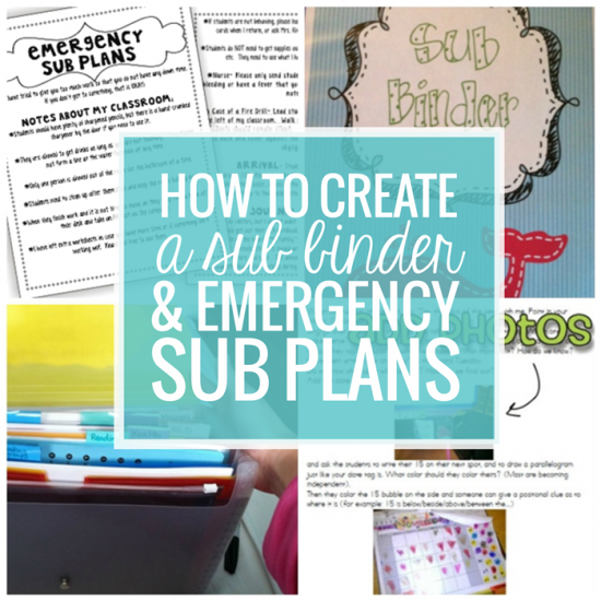 how to create a sub plan sub binder and emergency sub plans teach