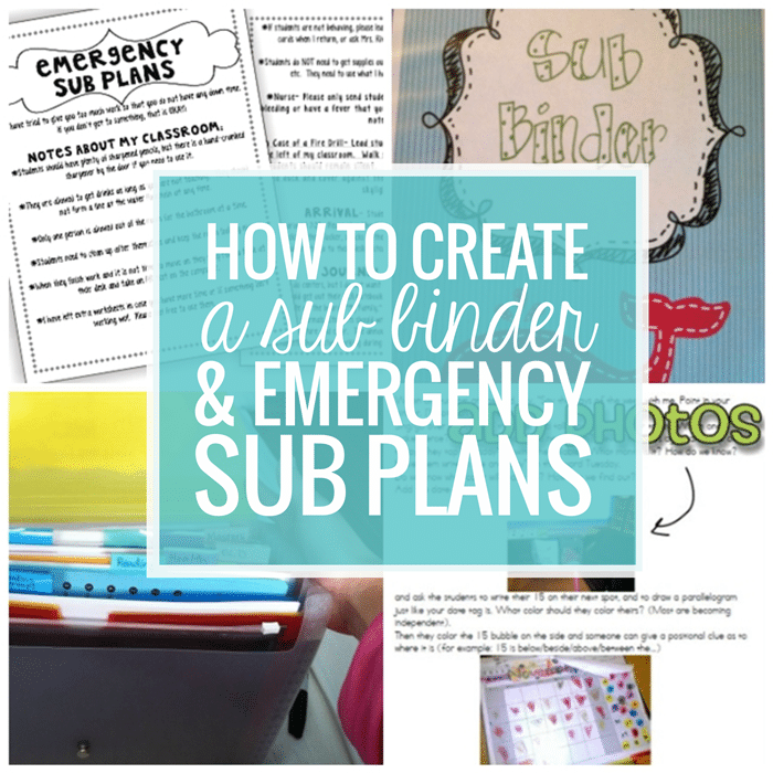 How To Create a Sub Plan, Sub Binder and Emergency Sub Plans