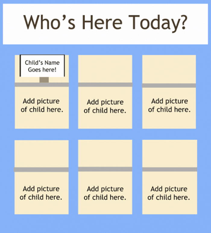 How to Help Preschoolers Recognize Their Names - attendance chart