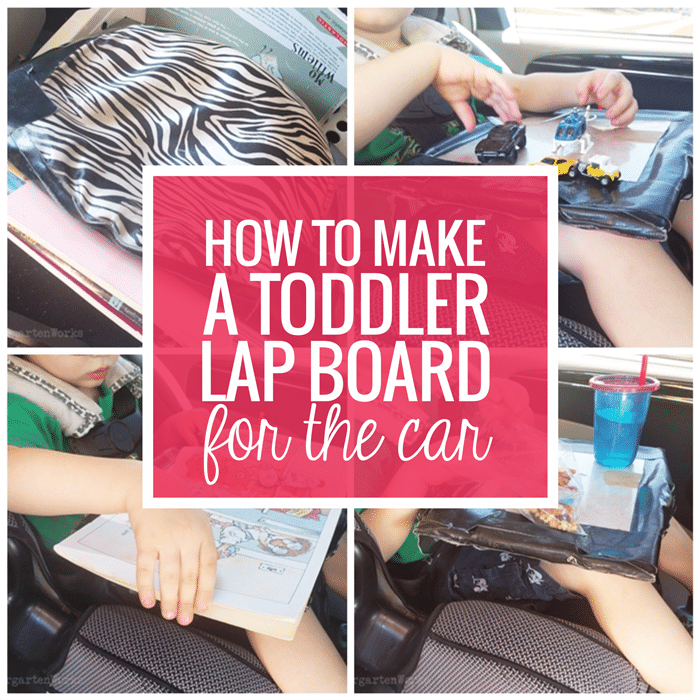 How to Make a Toddler Lap Board for the Car for under $5