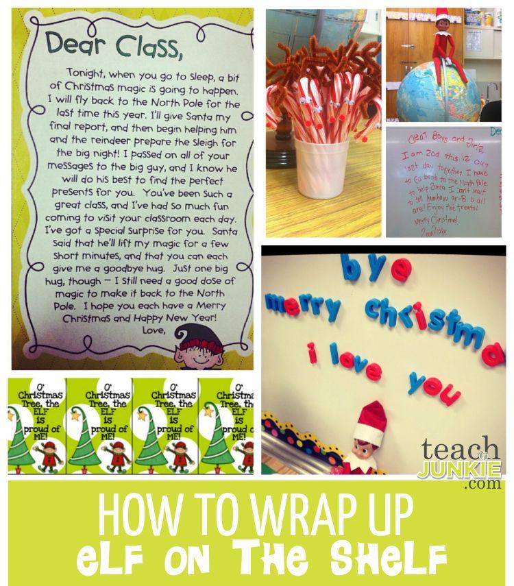 How to Wrap Up Elf on the Shelf Fun - TeachJunkie.com