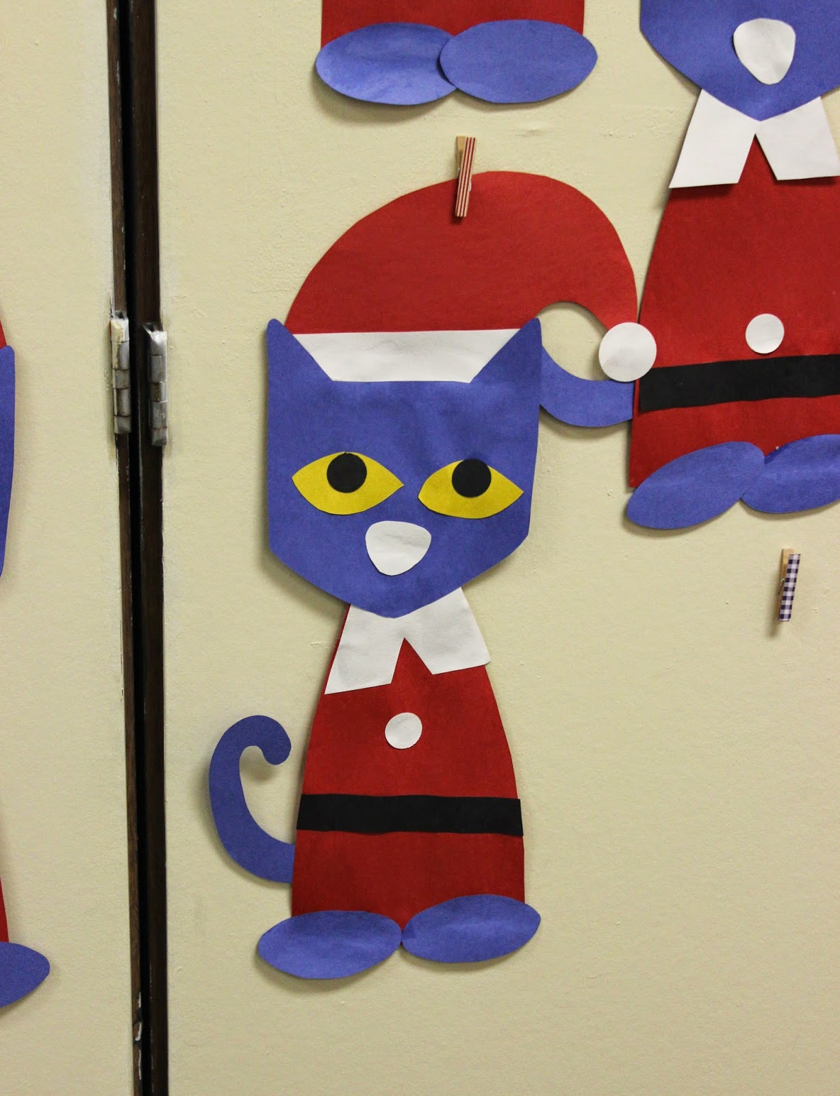 Pete The Cat Saves Christmas Craft Template Teach Junkie
