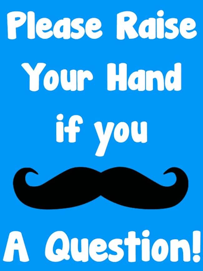 If You Mustache a Question - Collection Free Classroom Posters - Teach Junkie