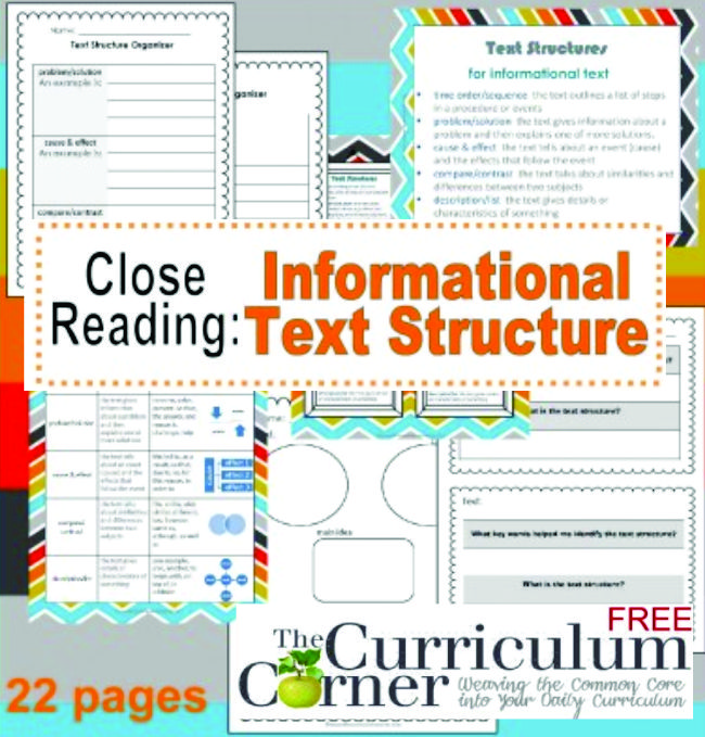 Informational Text Structure Free - Teach Junkie