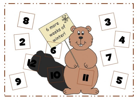 It's Groundhog Day! 16 Free Teacher Ideas Roll and Cover Game -Teach Junkie
