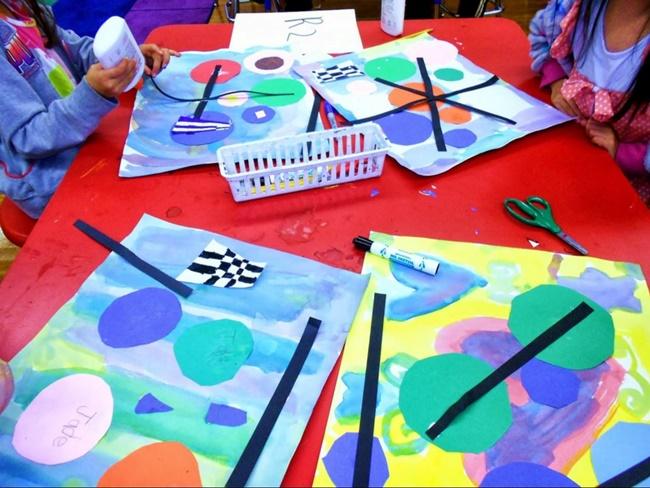 First Grade Art: Kandinsky Inspired Project - Teach Junkie