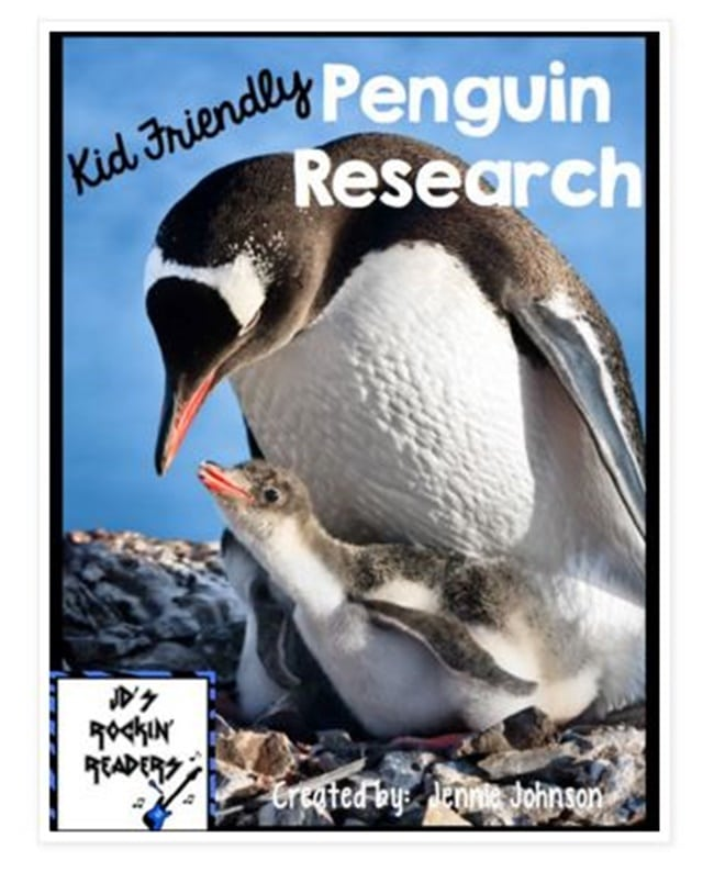 Non-Fiction for Kids: Penguins Research Cards - Teach Junkie