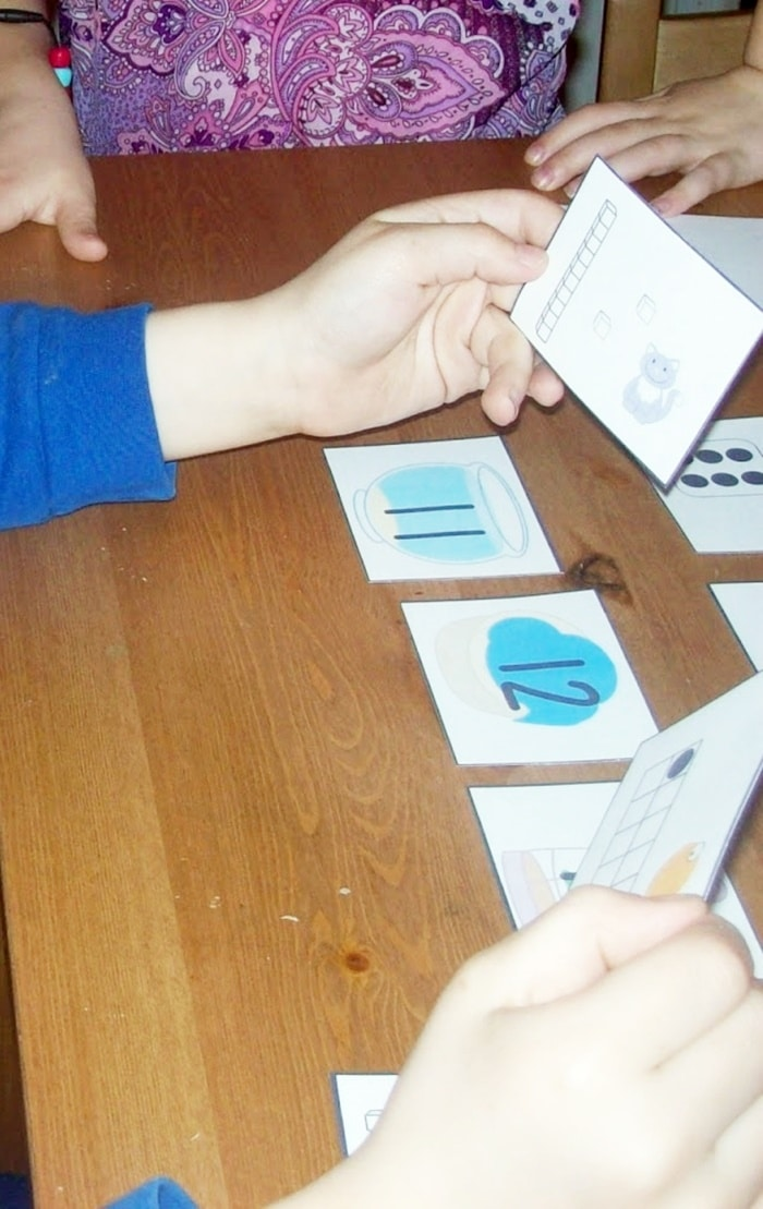 Kindergarten Free Downloads and Teacher Printables - matching numbers card game
