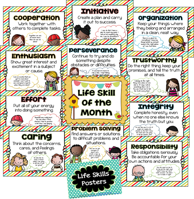 Life Skills Posters - Collection Free Classroom Posters - Teach Junkie