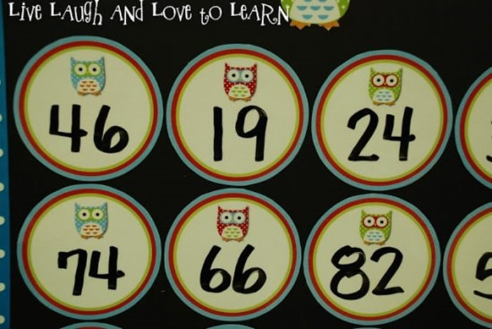 Make an Add It Up Math Boggle Board for Your Classroom with double digit numbers