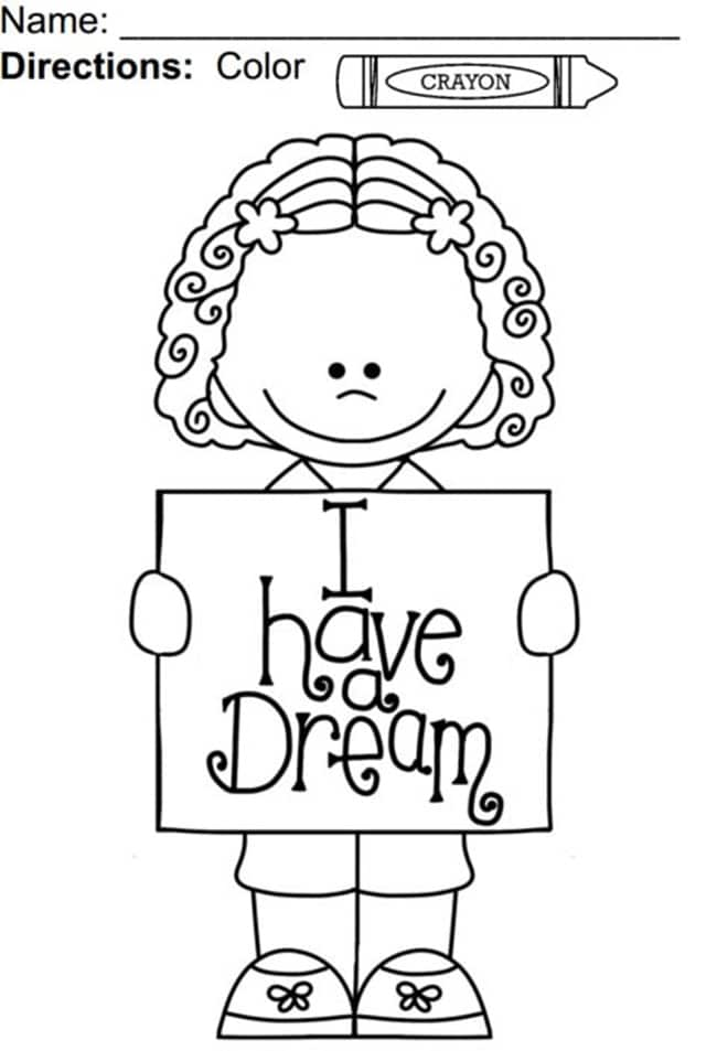 I Have a Dream Coloring Page - Teach Junkie