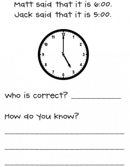 18 Telling Time To The Hour Resources - Math Journal - Teach Junkie