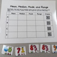 Mean, Median, Mode, Range QR Code Activity