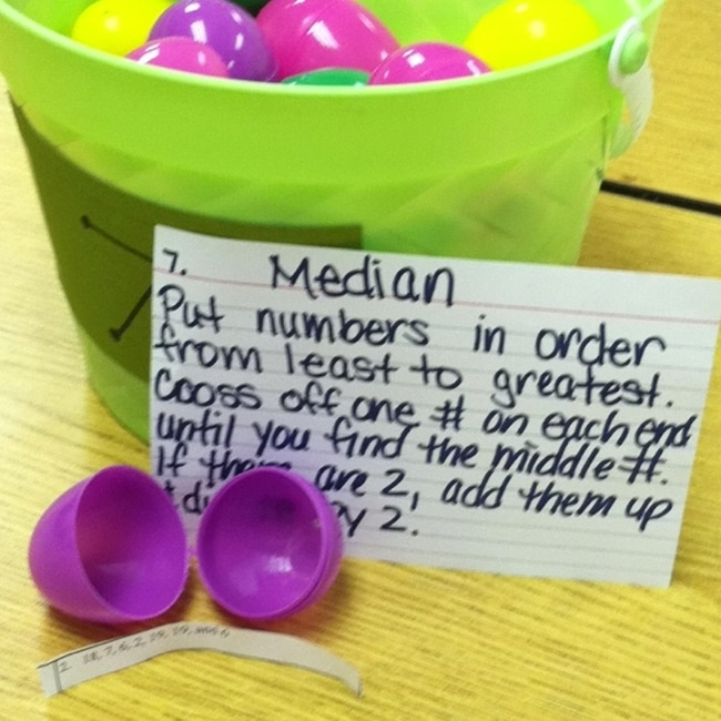 Median Easter Eggs - Range Median Mode: 24 Quick, Free Activities and Resources - Teach Junkie
