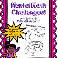 Mental Math: 7 Fun Printable Challenge Boards