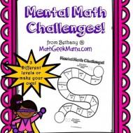 Mental Math: 7 Fun Printable Challenge Boards