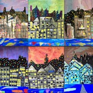 Fun Cityscape Collages Art for Young Kiddos