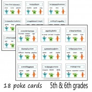 Practice Synonyms With Monster Poke Cards