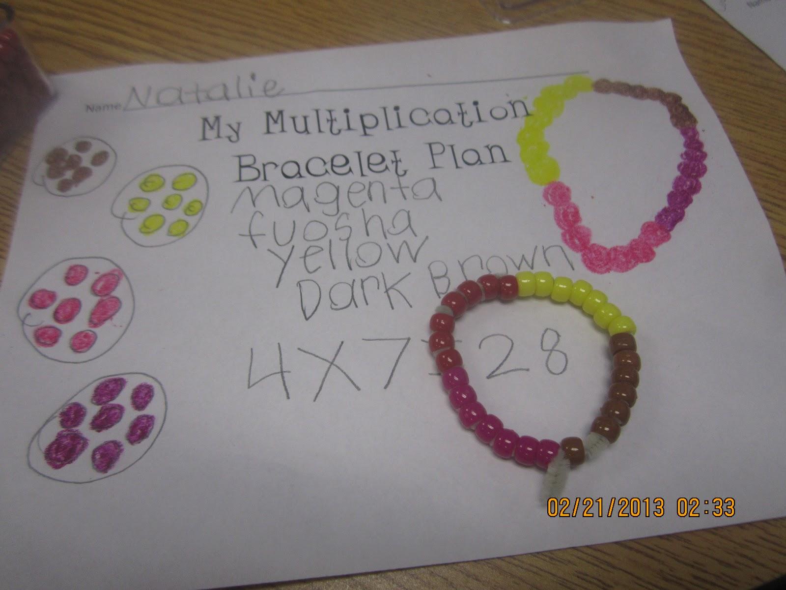 14 Easy Multiplication Charts and Tips - Multiplication Bracelet - Teach Junkie