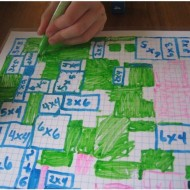 No Prep Multiplication Grid Game