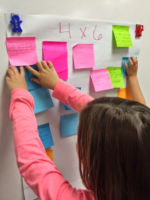 Multiplication Word Problems - Sticky Note Style