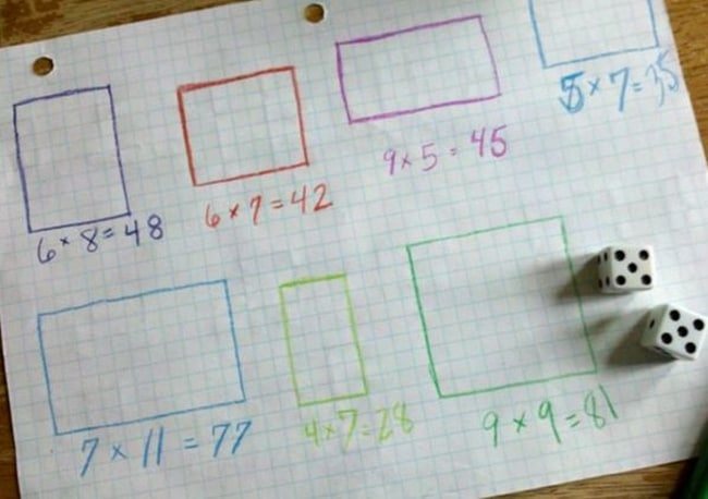 14 Easy Multiplication Charts and Tips - Multiply Dice - Teach Junkie